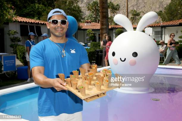 Food on display at the American Express Platinum House at the Avalon Hotel Palm Springs on April 14 2019 in Palm Springs California
