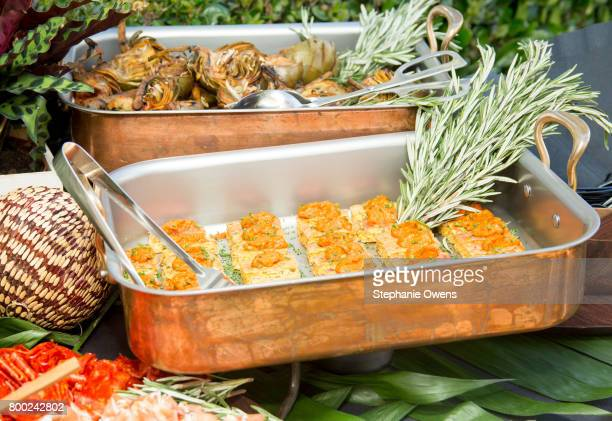 Food on display at the Fast Track Happy Hour during the 2017 Los Angeles Film Festival on June 21 2017 in Culver City California