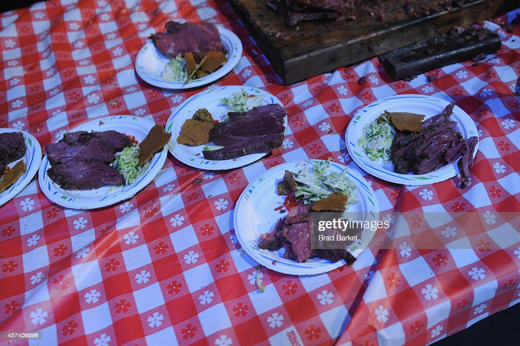 Food on display at Thrillist's Barbecue & The Blues