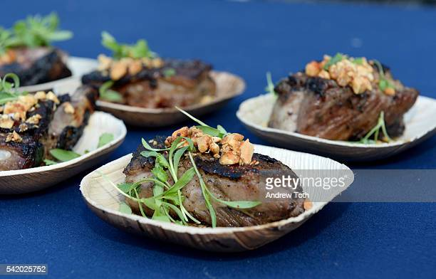 Food on display during The 7th Annual Saveur Summer Cookout at Boat Basin Cafe on June 21 2016 in New York City