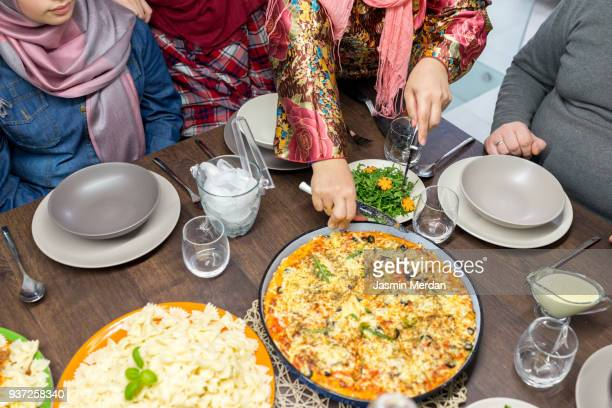 food on table - iftar stock pictures, royalty-free photos & images