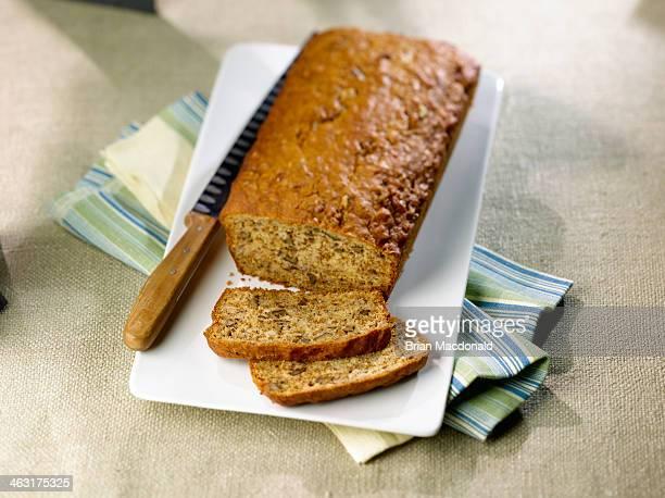 food - banana loaf stockfoto's en -beelden