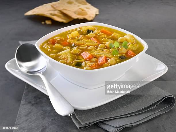 food - chicken soup stock photos and pictures