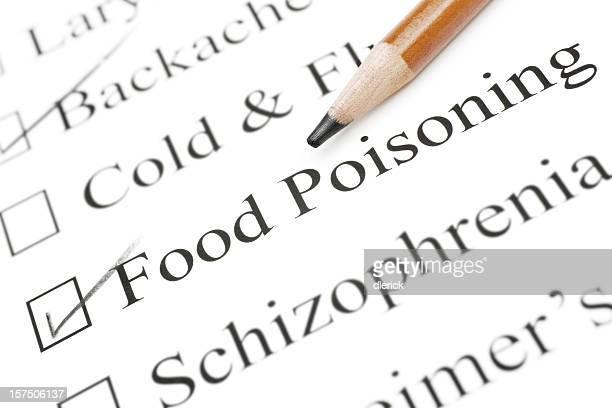 food poisoning medical check list