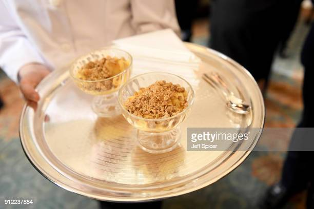 Food presented at Crop Trust reception hosted by Prince Charles Prince of Wales at Clarence House on January 30 2018 in London England Patron of The...