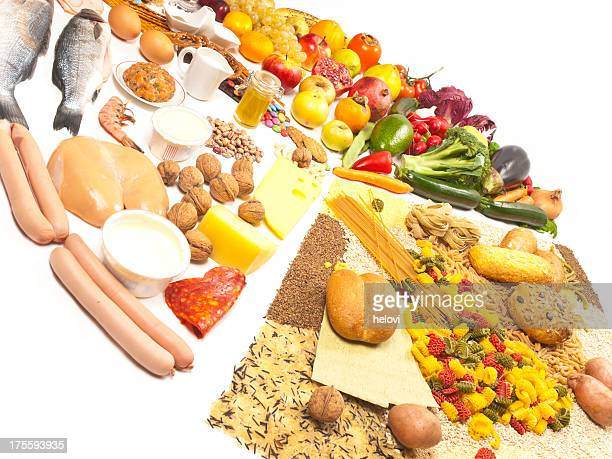 food pyramid - food pyramid stock photos and pictures