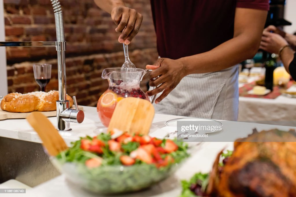 Food ready for Thanksgiving dinner. : Stock Photo