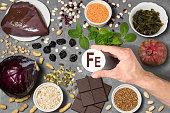 Food rich in ferrum
