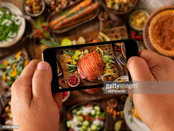 Food Selfie - Holiday Spiral Ham Dinner