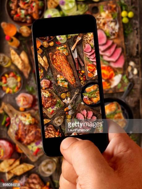 Food Selfie of bbq Feast