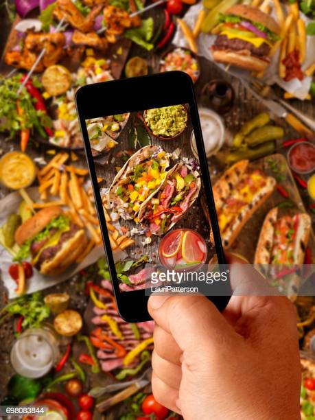 Food Selfie of Hand Held BBQ Favorites