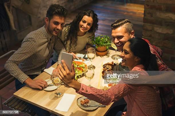 Food Selfie with Friends