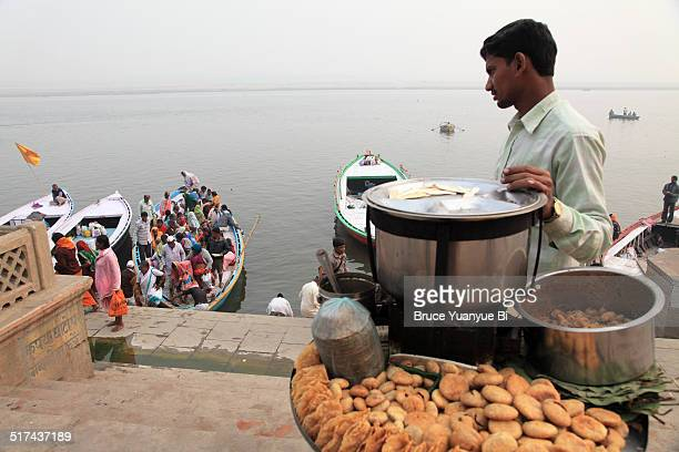 Food seller on a ghat