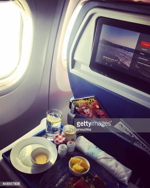 Food served in business class cabin, Aeroflot flight