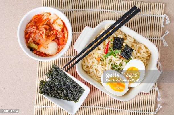 food served on table - nori stock photos and pictures