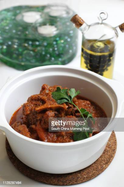 Food shot of Slow Cooked Ox Tail Stew at Nino's Cozinha QRE Plaza in Wan Chai 29FEB12