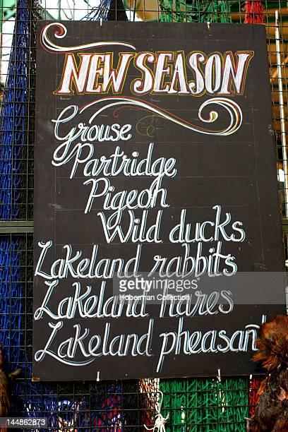 Food Sign Burough Market London