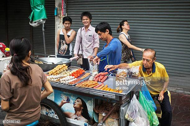 Food stall in Bangkok's Chinatown
