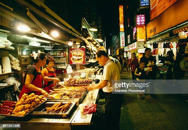 Food Stall in Myeondong Market