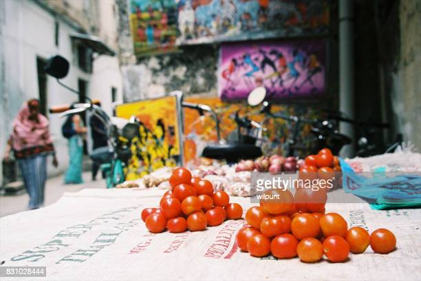 Food stall with tomatoes