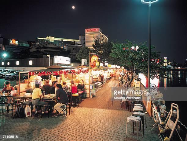 food stalls in nakasu, fukuoka prefecture, japan - 福岡県 ストックフォトと画像