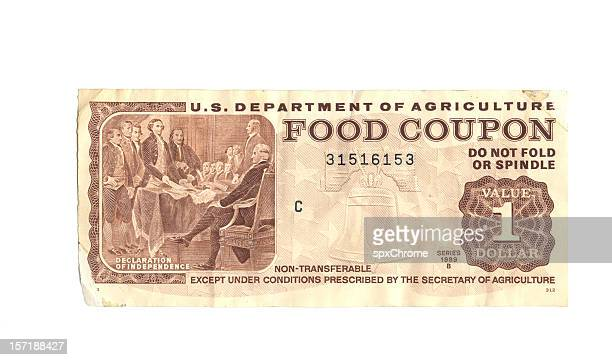 food stamp - coupon stock photos and pictures