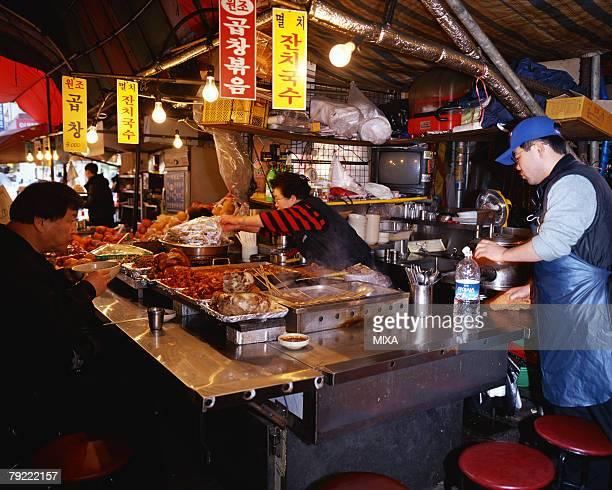 Food stand in Seoul, Korea