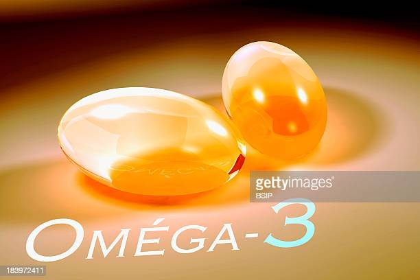 Food Supplement Omega 3 Capsules