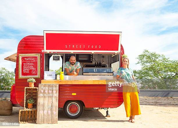 food truck and owners - food truck stock photos and pictures