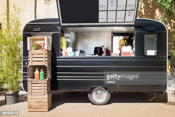 food truck chefs - food truck stock photos and pictures