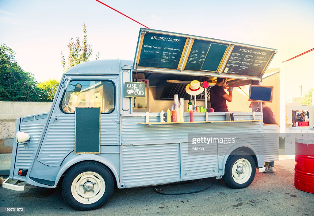 Food truck in the street : Stock Photo