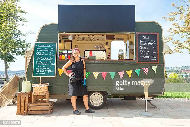 food truck in the street - punjab pakistan stock photos and pictures
