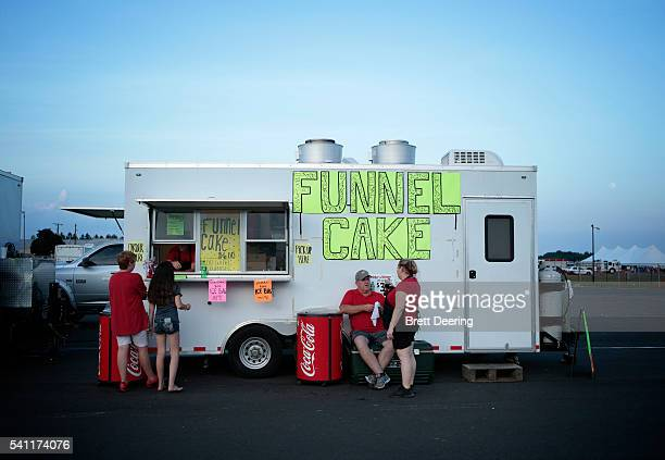 A food truck open during Muskogee G Fest 2016 at Hatbox Field on June 18 2016 in Muskogee Oklahoma