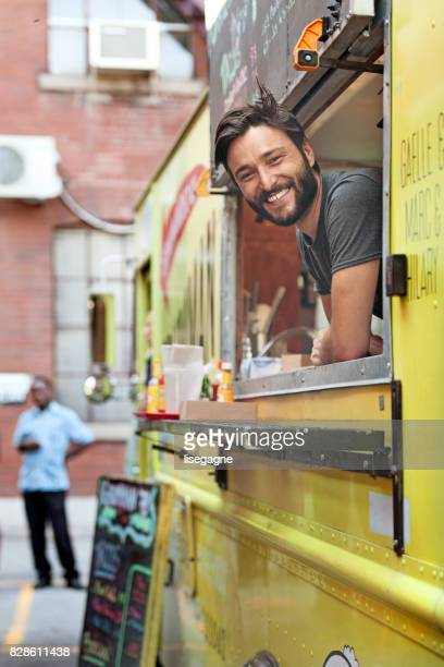food truck owner - food truck stock photos and pictures
