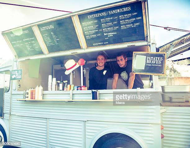 food truck restaurant - food truck stock photos and pictures