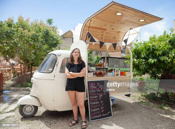 food truck, small business owner - food truck stock photos and pictures