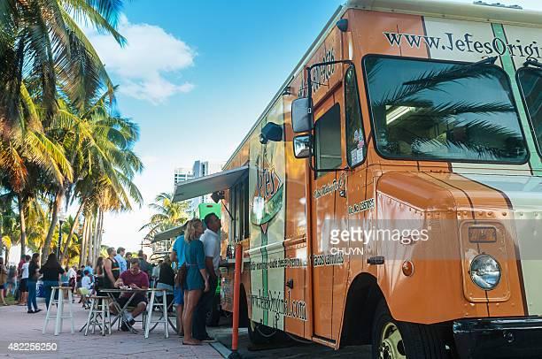 Los camiones en Miami Beach