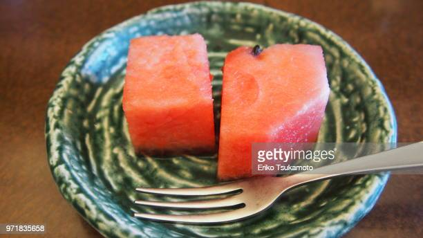 POV Food two cut pieces of water melon