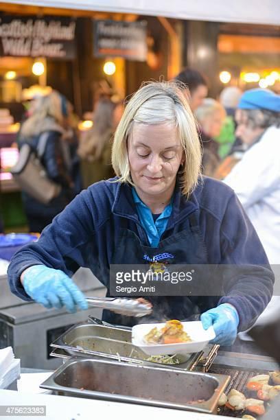 Food vendor at Borough Market