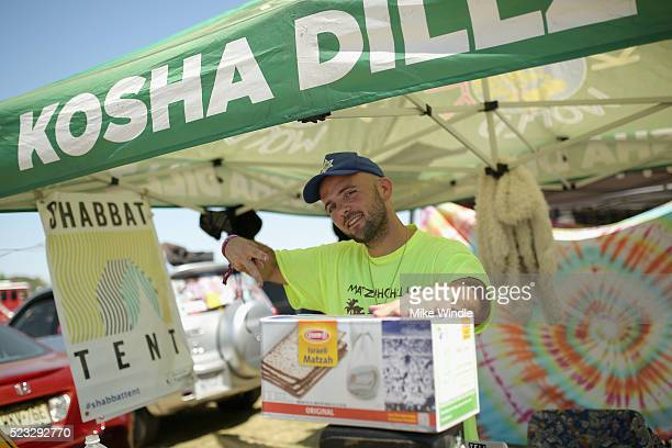 A food vendor attends day 1 of the 2016 Coachella Valley Music Arts Festival Weekend 2 at the Empire Polo Club on April 22 2016 in Indio California