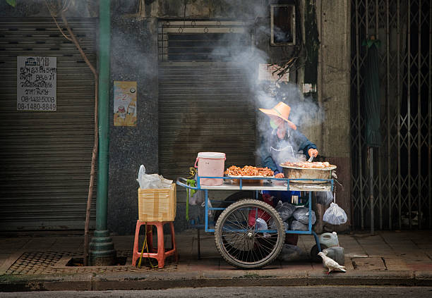 Food vendor on street