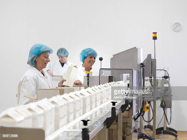 Food Workers On Production Line