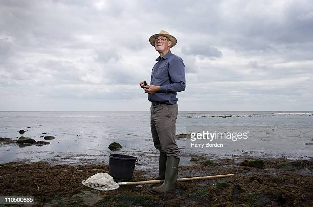 Food writer and forager John Wright poses for a portrait shoot in Weymouth on July 7 2009