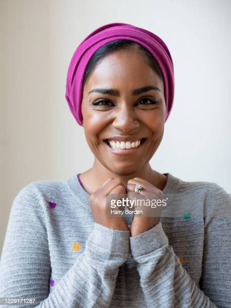 Food writer and tv presenter Nadiya Hussain is photographed for the Observer on December 11 2019 in London England