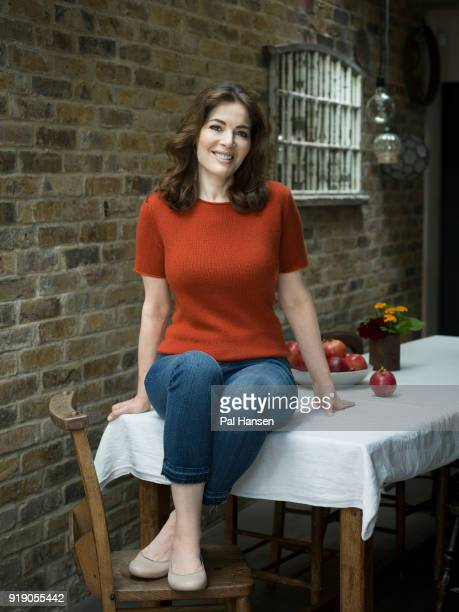 Food writer and tv presenter Nigella Lawson is photographed for Waitrose magazine on September 5 2017 in London England