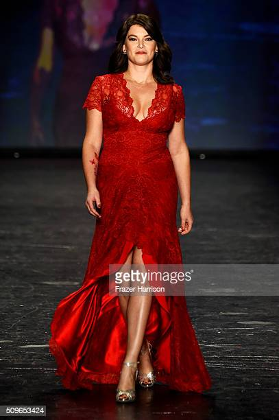 Food writer Gail Simmons walks the runway at The American Heart Association's Go Red For Women Red Dress Collection 2016 Presented By Macy's at The...