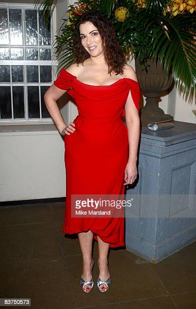 Food writer Nigella Lawson attends Chaos Point in aid of NSPCC at the Banqueting House November 18 2008 in London England