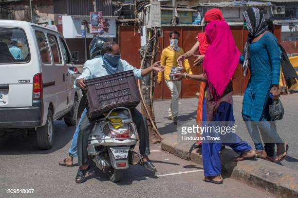 Foodbacks distributed to the needy and poor people during lockdown at Dharavi, on April 7, 2020 in Mumbai, India.