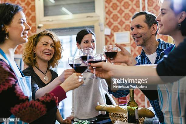 Foodies celebrating