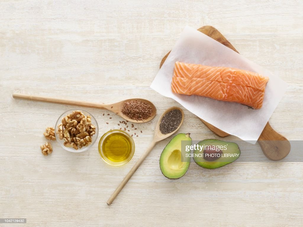 Foods high in omega three : Stock Photo